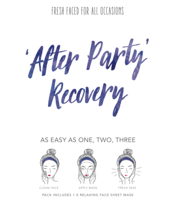 After party recovery - kasvonaamio